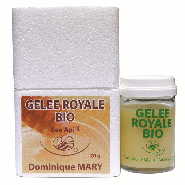 100g  GELEE ROYALE BIO PURE en 5 pots de 20g avec cuiller doseuse 5 mois de cure